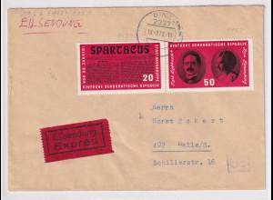 DDR. Eilbote-Fernbrief mit MiF, Mi.-Nr. 1154-55