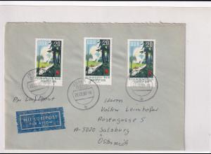 DDR. Ausland-Luftpostbrief mit MeF, Mi.-Nr. 1464