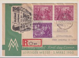 DDR. FDC . Mi.-Nr. 248-249 als R-Fernbrief gelaufen.