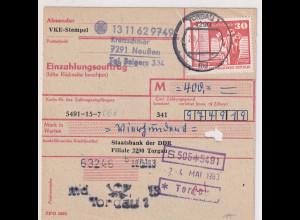 DDR.Einzahlungsauftrag mit EF. Mi.-Nr. 1899