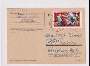 DDR.Fernkarte mit EF. Mi.-Nr. 1197