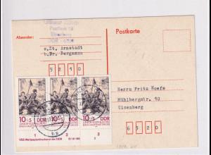 DDR.Fernkarte mit MeF. Mi.-Nr. 2812 DV