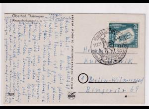 DDR. Fernkarte mit EF. Mi.-Nr. 280