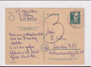 DDR. Ganzsache P 35 + Mi.-Nr. 256-59 gelaufen