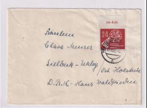 DDR. Fernbrief mit EF. Mi.-Nr. 275 mit OR.