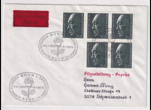 Bund, Eilbrief/FDC. mit Me.F. Mi.-Nr. 876