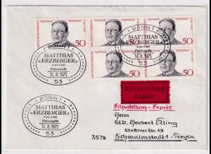 Bund, Eilbrief/FDC. mit Me.F. Mi.-Nr. 865