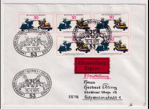 Bund, Eilbrief/FDC. mit Me.F. Mi.-Nr. 844