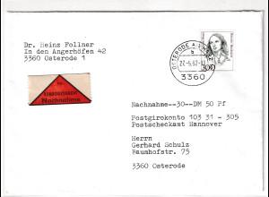 Bund, NN-Brief mit EF. Mi.-Nr. 1956