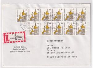 Bund, R-Fernbrief/FDC. mit Me.F. Mi.-Nr. 1687