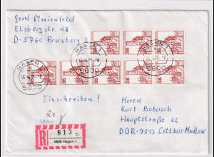 Bund,R-Fernbrief mit Me.F. Mi.-Nr. 1139