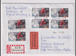 Berlin, R-Fernbrief mit Rückschein Me.F. Mi.-Nr. 787