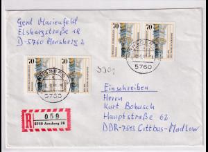 Bund, R-Fernbrief mit Me.F. Mi.-Nr. 1251