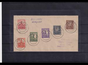SBZ-West Sachsen Mi.-Nr. 156-61 y, auf Brief, FA. DR.JaschBPP:
