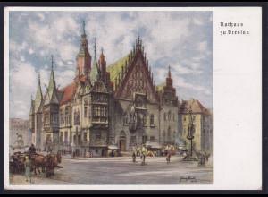 DR., Privat-Ganzsache, PP127-C 30/03, Rathaus zu Breslau, gelaufen.