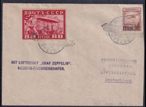 Sowjetunion, Zepp.-Brief mit Mi.-Nr. 391 A u.a.