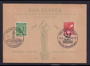 """DDR/ SBZ, Sonderpostkarten """"100 Jahre Sächsisches Staatsbad """""""