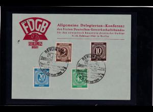 DDR/ SBZ, Sonderpostkarten FDGB - Kongress