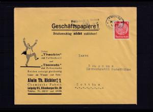 DR. Reklamebrief, Chemische Fabrik Alwin Th. Richter GmbH, Leipzig.