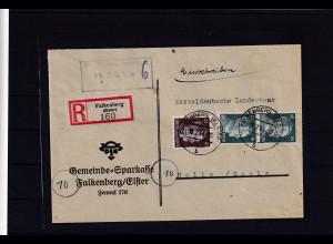 """DR. Reklamebrief, """"Vor Not Sich Schützen,..."""" Gemeinde Sparkasse Falkenberg"""