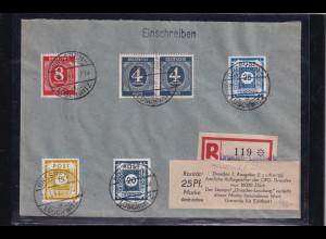 SBZ. Ost-Sachsen, R-Ortsbrief (Kempe-Brief) mit Mi.-Nr. 47 Ga, 49 G, sign. Ströh