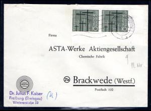 Bund. Fernbrief mit MeF. Mi.-Nr. 248, Rechte untere Ecke mit Form.-Nr. 3.