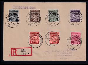 SBZ. Provinz Sachsen R-Fernbrief mit Mi.-Nr. 66-71