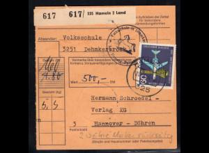 Bund. Paket Karte mit MeF. Mi.-Nr. 473