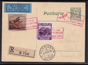 Leichtenstein, Mi.-Nr. 110 u.a. auf R-Ganzsache
