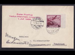 Liechtenstein, Luftpostbrief mit EF mit Mi.-Nr. 148
