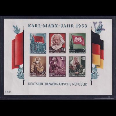 DDR., Mi.-Nr. BI.8B YII, postfrisch mit fehlerhaftem Wasserzeichen, Befund Mayer