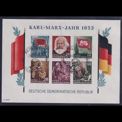 DDR., Mi.-Nr. BI.8B YII, gestempelt mit fehlerhaftem Wasserzeichen, Befund Mayer