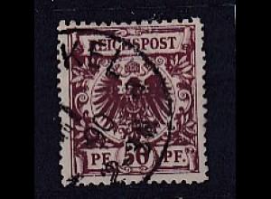 DR., 50 Pf. Krone und Adler, Mi.-Nr.50aa, gestempelt, Befund Wiegand