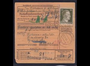 DR., Auslandspostanweisung von Fremdarbeiter aus dem Lager aus HH nach Holland