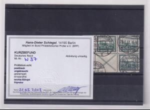 DR., Mi.-Nr. W 37/S80 gestempelt, Kurzbefund Schlegel.