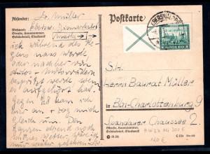 DR. Fernkarte mit EF. Mi.-Nr. W 37
