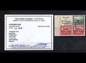 DR., Mi.-Nr. W 38/S84 gestempelt, Kurzbefund SchlegelBPP.