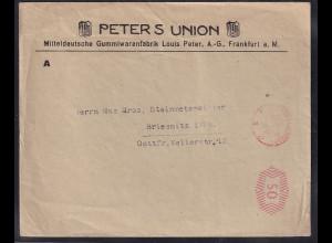 DR. Drucksache-Fernbrief mit Gebühr bezahlt aus Frankfurt