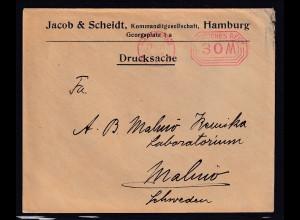 DR. Ausland-Drucksache mit Gebühr bezahlt aus Hamburg