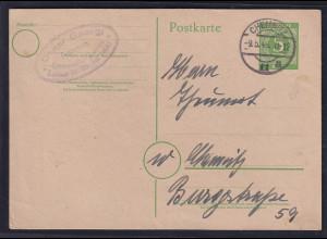 Gemeinschaftsausgabe, Ganzsache Mi.-Nr. P 950 auf Ortskarte ohne Nachgebühr.