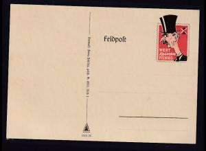 Feldpost Spott Karte Wert keinen Pfennig Chamberlain Ungebraucht
