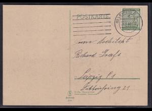 SBZ. West-Sachsen EF. Mi.-Nr. 128 auf Ortskarte