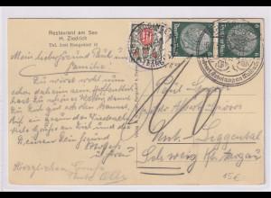 DR., Auslandkarte in der Schweiz mit Nachporto Schweiz Mi.-Nr. 32