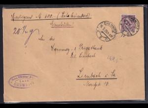 DR., Wert-Brief mit EF.Mi.-Nr 343