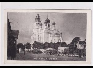 Ansichtskarten, Am Markt in Grodno gelaufen