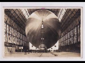 """DR., Zeppelin-Karte """"Einbringen in der Halle"""" gelaufen"""