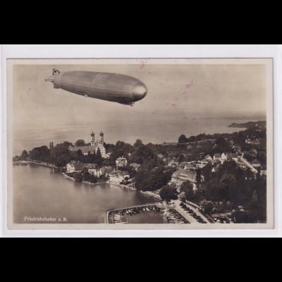 """DR., Zeppelin-Karte """"Friedrichshafen a.B."""" gelaufen"""