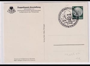 DR., Zeppelin-Privatganzsache-Karte PP 127 C 42 gestempelt.