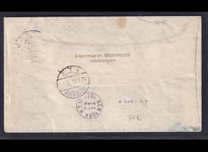 DR., Zeppelin-Brief Nordamerika Fahrt mit Mi.-Nr. 606 - 607