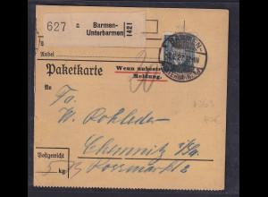 DR., Paketkarte mit EF. Mi.-Nr. 363